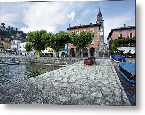 Ascona Metal Print featuring the photograph Lago Maggiore Ascona  by Radka Linkova