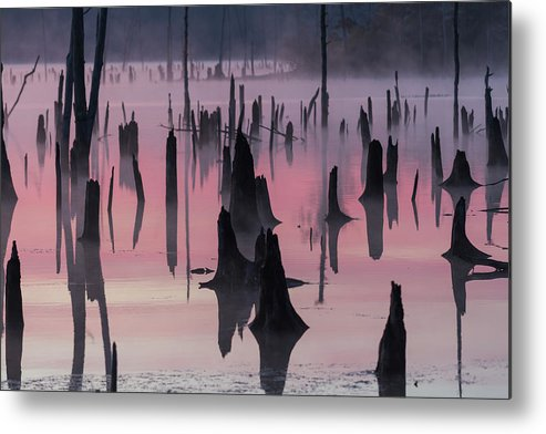 Misty Metal Print featuring the photograph Lake @ Morning by ??????? / Austin