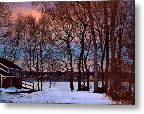 Lake Metal Print featuring the photograph Lake House by Tony Ambrosio