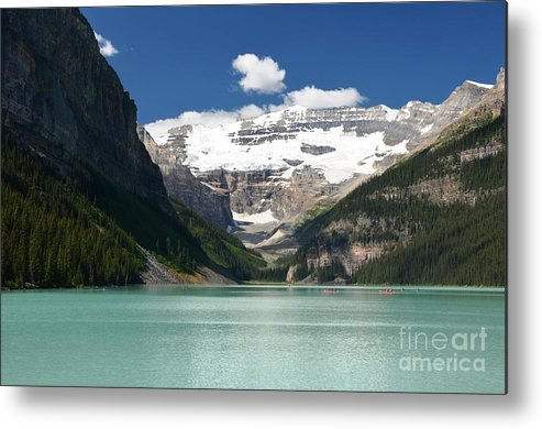 Glaciers Metal Print featuring the photograph Lake Louise by Deanna Cagle