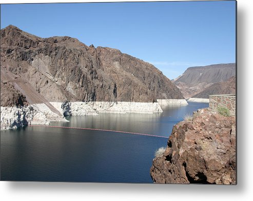 Hoover Dam Metal Print featuring the photograph Lake Mead At Hoover Dam 2 by Kathy Hutchins