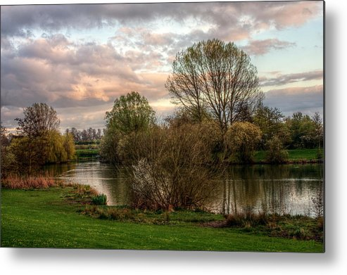 Canon Metal Print featuring the photograph Lake Sunset by Jeremy Hayden