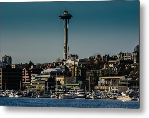 2012 Metal Print featuring the photograph Lake Union Seattle Skyline by Puget Exposure