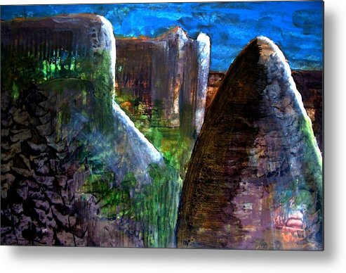 Landscape Metal Print featuring the painting Landscape 130214-4 by Aquira Kusume