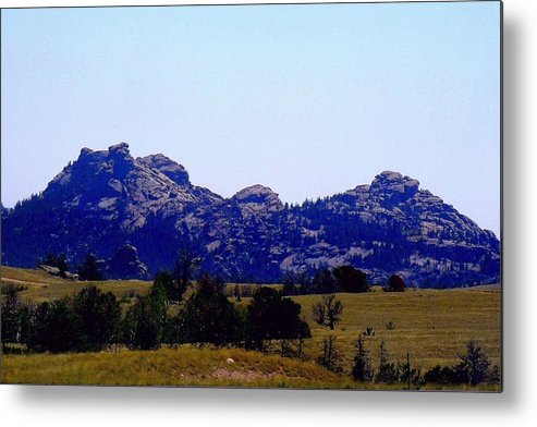 Mountain Metal Print featuring the photograph Landscape At 80 Mph by Mark Malitz