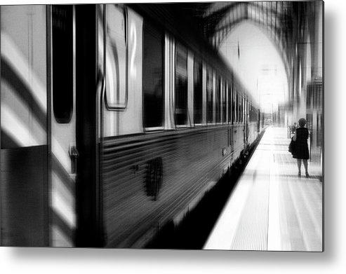 Train Metal Print featuring the photograph Last Train Leaving Paris by Rui Correia