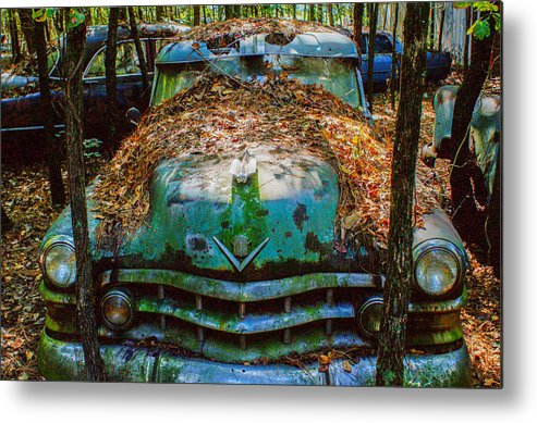 Late Metal Print featuring the photograph Late 1940s Olsmobile by Douglas Barnett