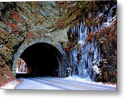 Laurel Creek Metal Print featuring the photograph Laurel Creek Road Tunnel by Paul Mashburn