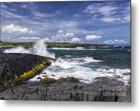 Hawaii Metal Print featuring the photograph Lava Beach by Ken Lamb