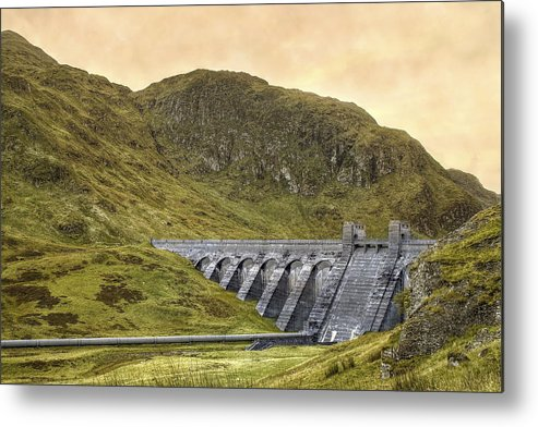 Lawers Dam Metal Print featuring the photograph Lawers Dam - Scotland - Lochan Na Lairige by Jason Politte