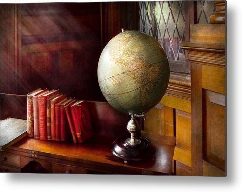 Self Metal Print featuring the photograph Lawyer - A World Traveler by Mike Savad