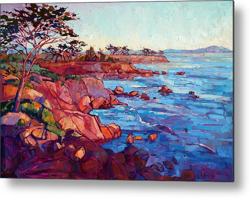 Monterey Metal Print featuring the painting Layers Of Monterey by Erin Hanson
