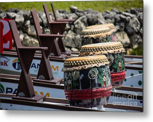 Dragon Boating Metal Print featuring the photograph Leave It On The Water by Conni Walker