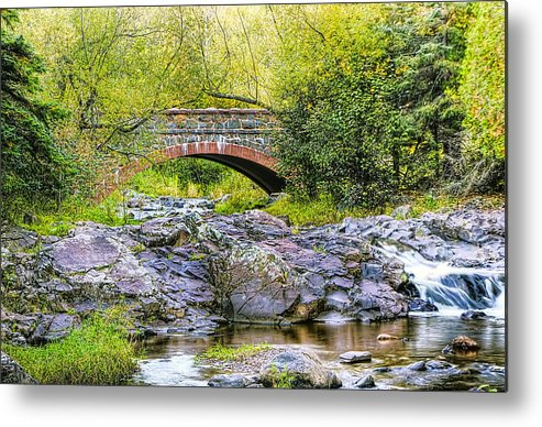 Duluth Metal Print featuring the photograph Lester Park Bridge by Bryan Benson