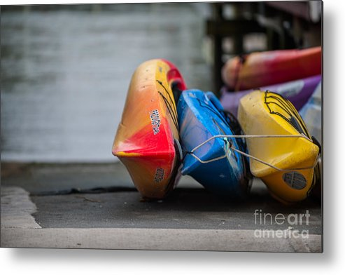 Kayak Metal Print featuring the photograph Lets Go Kayaking by Dale Powell