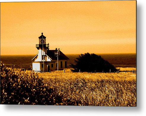 Lighthouse Metal Print featuring the photograph Lighthouse In Autumn by Joseph Coulombe