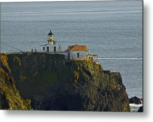 Point Bonita Metal Print featuring the photograph Lighthouse by SC Heffner