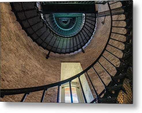 Lighthouse Metal Print featuring the photograph Lighthouse Stairs by Stacy Abbott