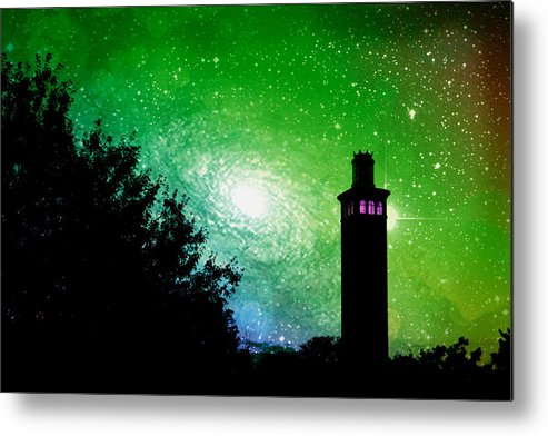 Mamaroneck Metal Print featuring the photograph Lighthouse Under The Stars Xii by Aurelio Zucco