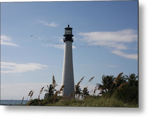 Ligthouse Metal Print featuring the photograph Ligthouse - Key Biscayne by Christiane Schulze Art And Photography