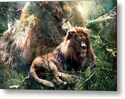 Lion Metal Print featuring the digital art Lion Spirit by Lisa Yount