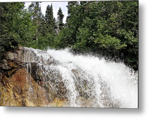 Waterfall Metal Print featuring the photograph Liquid Snow by Ken Caldwell