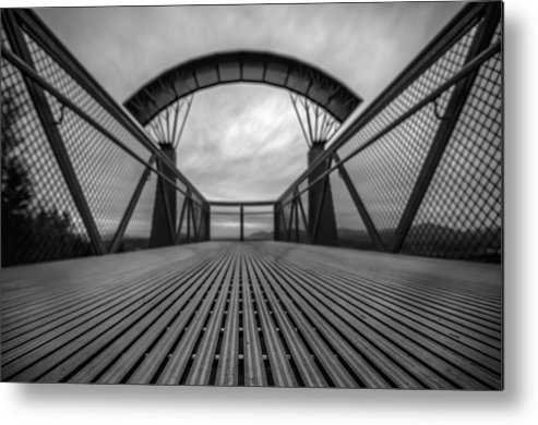 Fields Metal Print featuring the photograph Little Mountain Sky Bridge by Puget Exposure