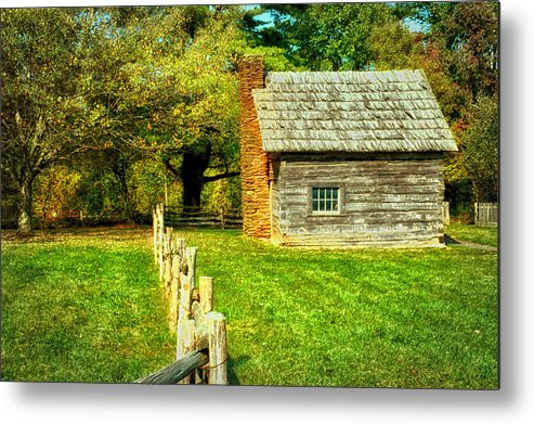 Log Cabin Metal Print featuring the photograph Log Cabin by Mary Timman
