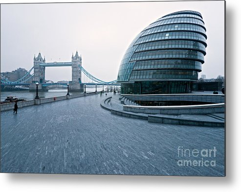 Architecture Metal Print featuring the photograph London City Hall by Luciano Mortula