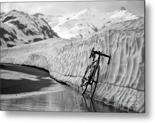 Bicycle Metal Print featuring the photograph Lonely Bike by Maurizio Bacciarini