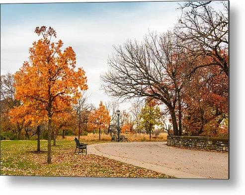 Park Metal Print featuring the photograph Lonely Park by AMB Fine Art Photography