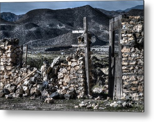 Ruin Metal Print featuring the photograph Long Gone Past by Heiko Koehrer-Wagner