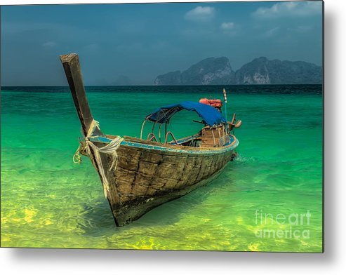 Asia Metal Print featuring the photograph Longboat by Adrian Evans