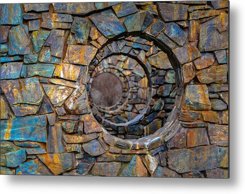 Abstract Metal Print featuring the photograph Looking Into The Future by Ronda Broatch