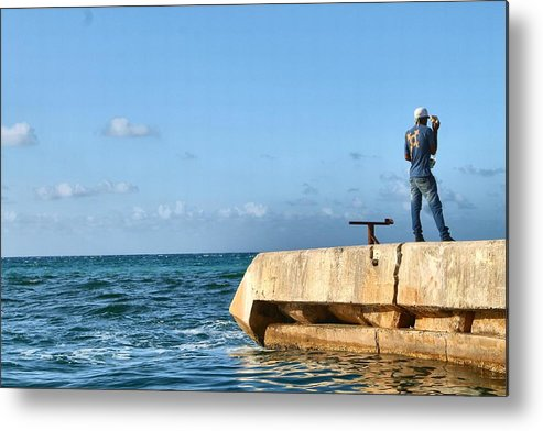 Water Metal Print featuring the photograph Looking Out To Sea by Debbie Levene