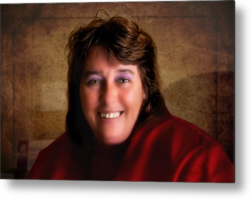 Metal Print featuring the photograph Loretta Smile by John Herzog