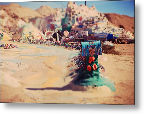 Salvation Mountain Metal Print featuring the photograph Love Letters by Laurie Search