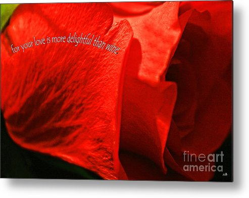 Card Metal Print featuring the photograph Love Rose by Sandra Clark