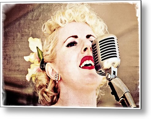 Music Metal Print featuring the photograph Lovely Leah by Mike Martin