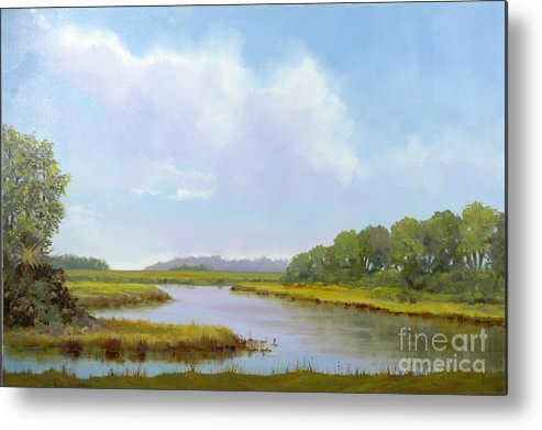 St. Simons Metal Print featuring the painting Lowcountry Afternoon by Glenn Secrest