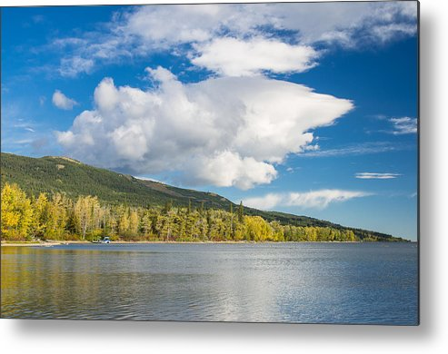 Lower St. Mary Lake Metal Print featuring the photograph Lower Saint Mary Lake 1 by Greg Nyquist