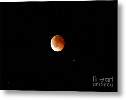 Eclipse Metal Print featuring the photograph Lunar Eclipse by E B Schmidt