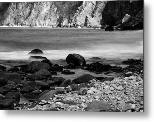 Coast Metal Print featuring the photograph Lynton And Lynmouth Coast by Lesley Rigg