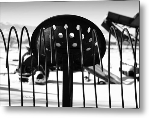 Ique Metal Print featuring the photograph Machine Seat 1 by Roger Snyder