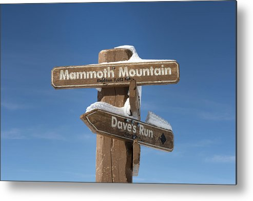 Mammoth Metal Print featuring the photograph Mammoth Mountain Sign In Mono County by Carol M Highsmith