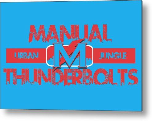 Thunderbolts Metal Print featuring the photograph Manual Thunderbolts by Joe Hamilton