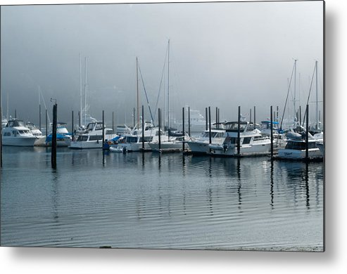 Gig Harbor Metal Print featuring the photograph Marina Fog by Tikvah's Hope