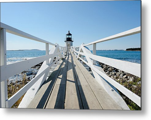 Lighthouse Metal Print featuring the photograph Marshall Point by Corey Ann Balazowich