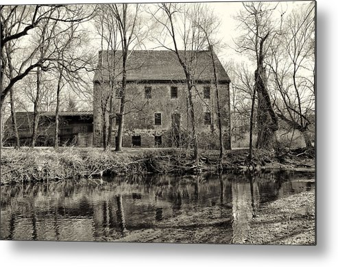 Mather's Metal Print featuring the photograph Mather's Grist Mill by Bill Cannon