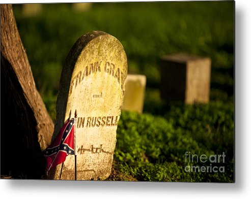 Mcgavock Metal Print featuring the photograph Mcgavock Confederate Cemetery by Brian Jannsen